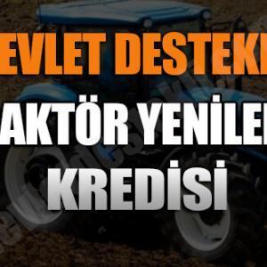 Devlet Destekli Traktör Yenileme Hibesi