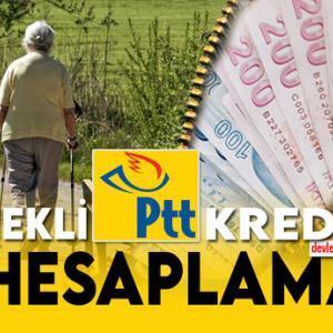 Emekli PTT Kredisi Hesaplama 2021 Şartlar ve Faizler