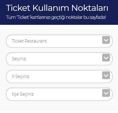 Ticket kullanim noktalari