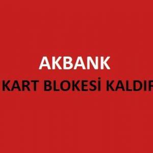 Akbank Sim Kart Blokesi Kaldırma (Tüm Yollar)